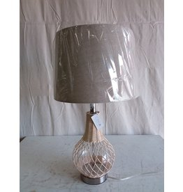 North York Woven Lamp - White