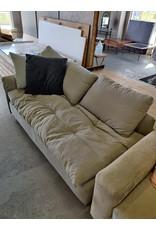 Markham West Large Grey/Green Chaise
