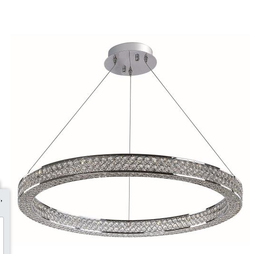 "Vaughan ""Eternity"" Crystal Ring Pendant Light"