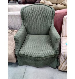 Markham West Green Patterned Chair