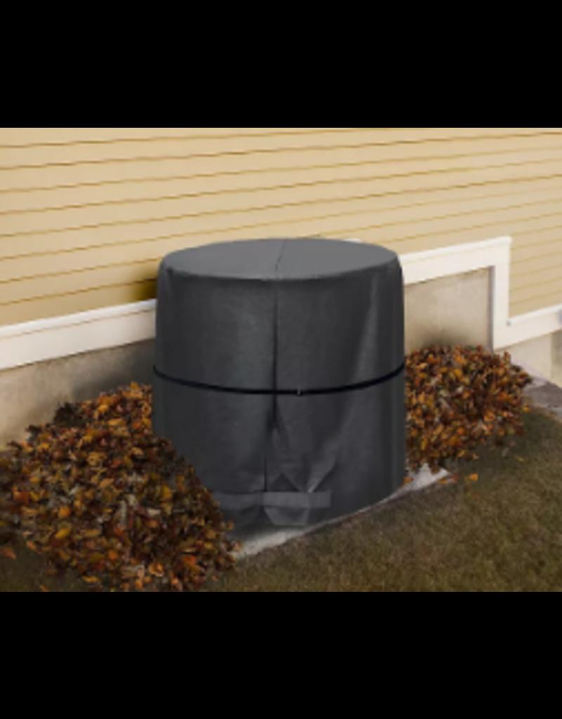 East York 34-inch x 30-inch Premium Round Air Conditioner Cover Black