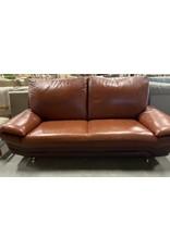 Markham West Hazelnut Leather Sofa