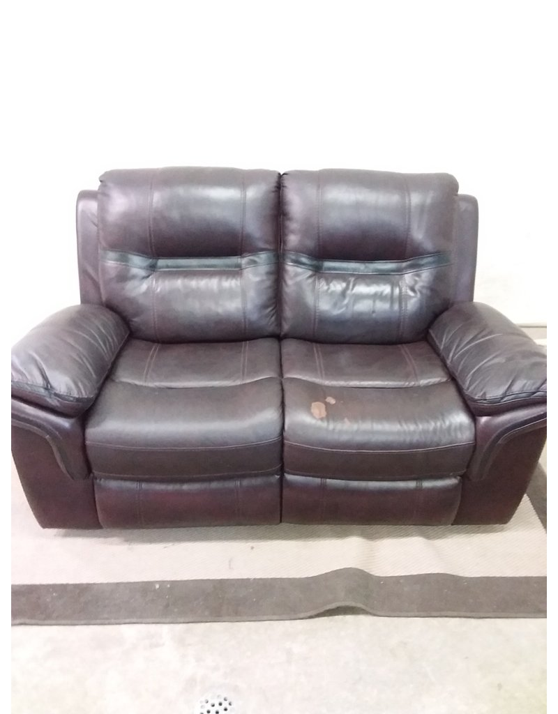 North York Faux leather love seat recliner sofa