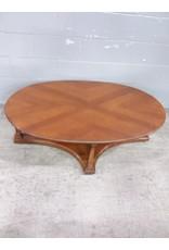 North York Oval hardwood coffee table