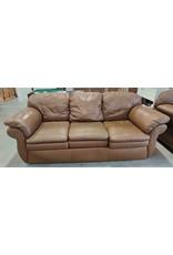 Markham West Brown leather sofa