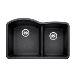 Vaughan Blanco DIAMOND Offset Double Sink