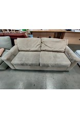 Markham West Suede love seat sofa