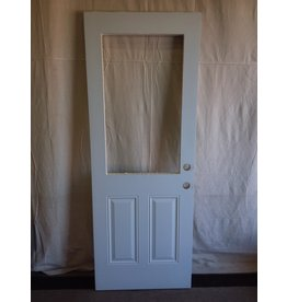 "North York Steel exterior door with cutout 29 3/4"" x 79"""