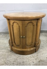 North York Circular Wood Side Table
