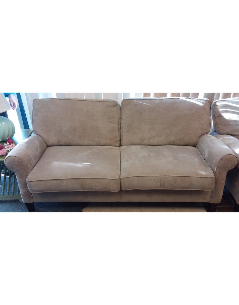 Vaughan Beige Microfiber Sofa