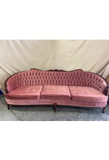 Markham West Pink buttoned 3 sweet sofa
