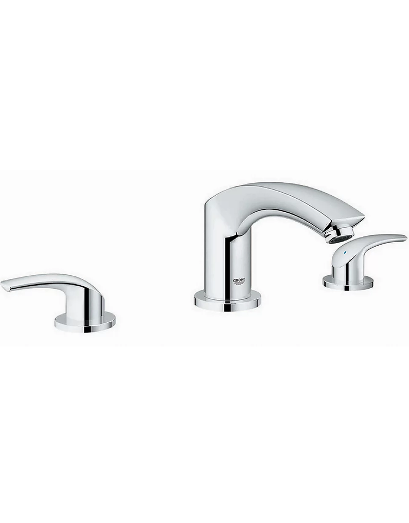 East York GROHE Eurosmart New 8-inch Widespread 2-Handle Bathroom Faucet in StarLight Chrome