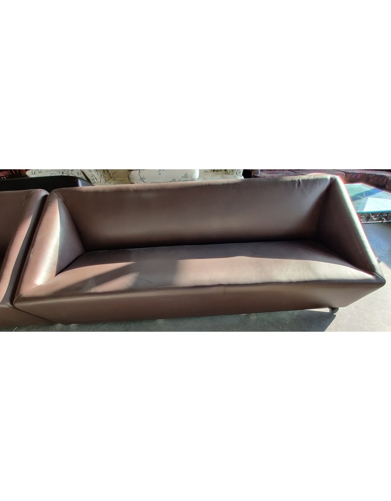 Markham West Faux leather office sofa