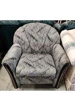 Markham West Grey vintage looking arm chair