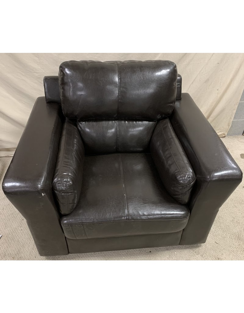 East York Faux Leather Arm Chair