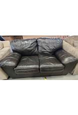 Markham West Leather love seat
