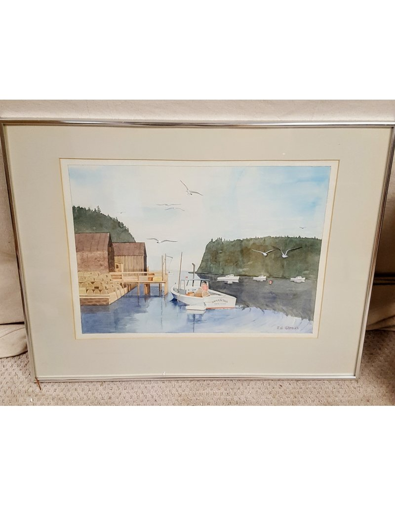 East York Inlet harbour scene painting