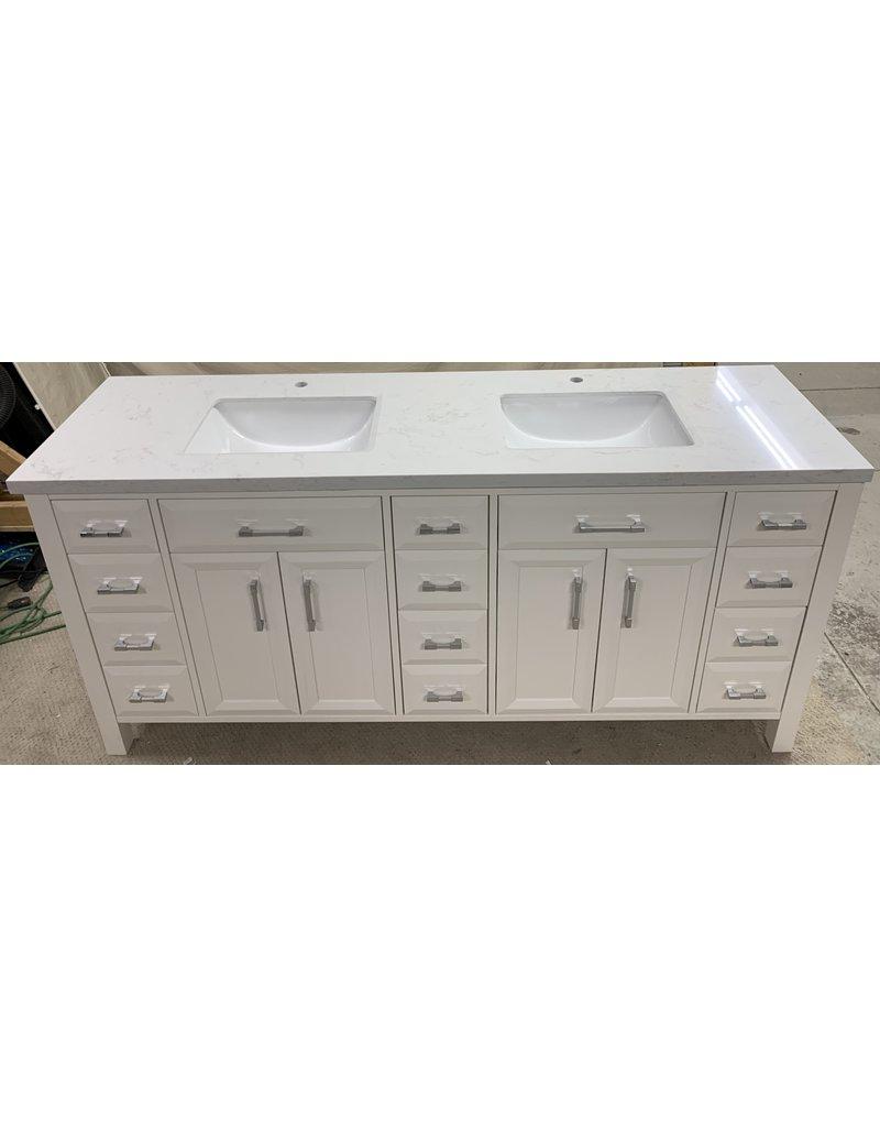 East York Double Sink Vanity (White)
