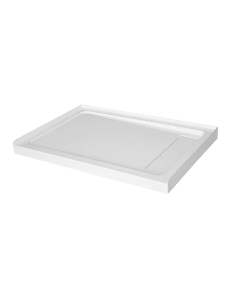 East York Glacier Bay 48 inch x 32 inch Acrylic Shower Base with Right Concealed Drain
