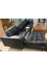 East York Black sectional sofa