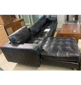 East York Black sectional sofa