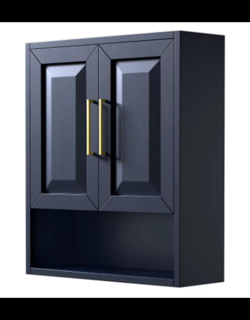 East York Wyndham Collection Daria Wall-Mounted Storage Cabinet in Dark Blue
