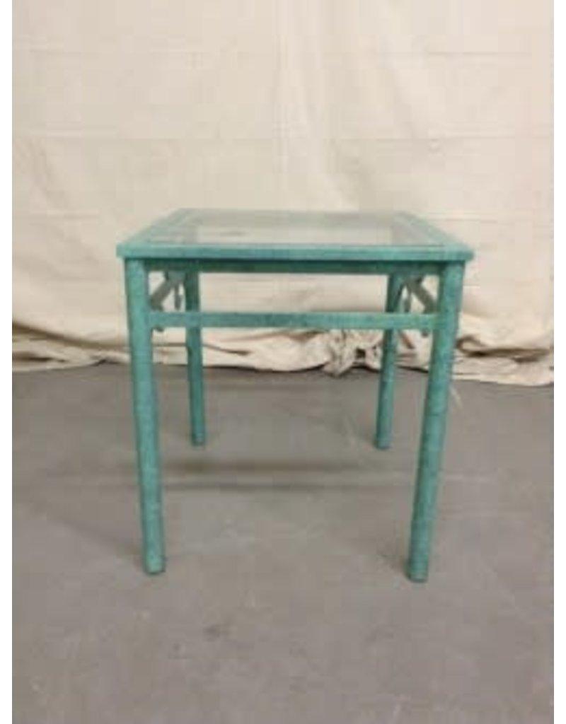 Studio District Metal & Glass Top Side Table