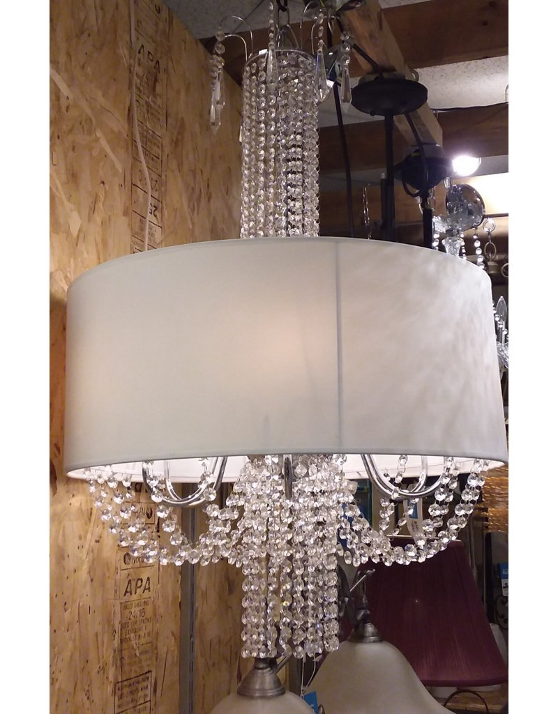 Vaughan White shade chandelier