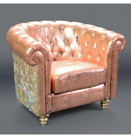 Studio District Tufted Metallic Arm Chair by Fiona Debell