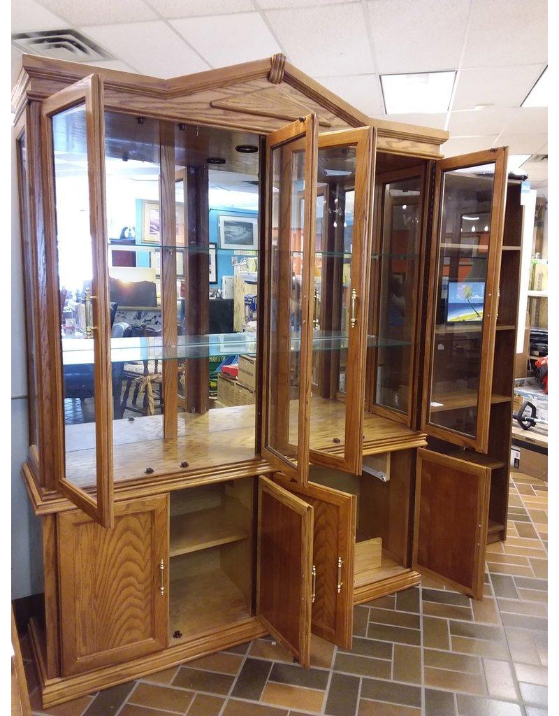 Vaughan Honey Oak China Cabinet