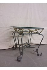 Studio District Glass Top Side Table