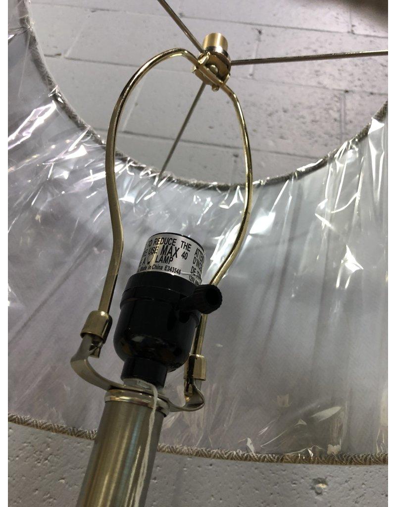 North York Grey Glass Lamp