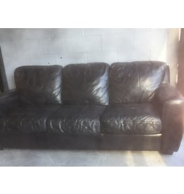 North York Black leather Couch