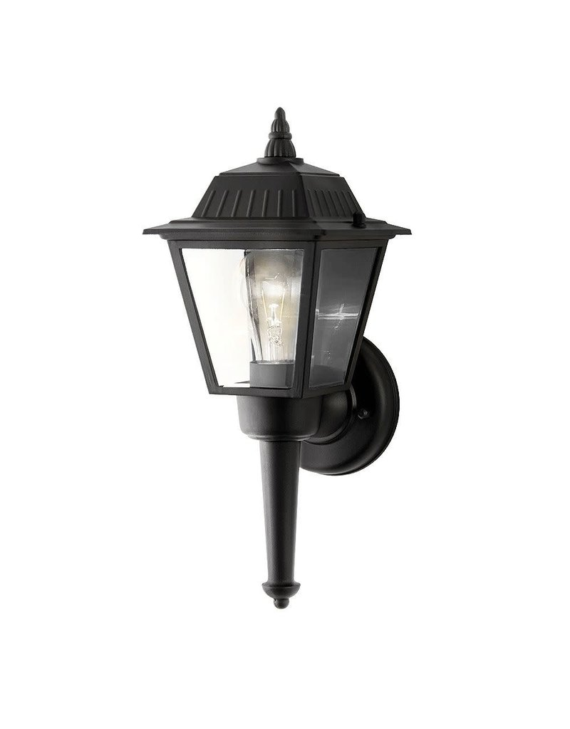 East York Hampton Bay 1-Light Black Exterior Wall Lantern