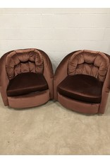 East York Two red Arm chair set