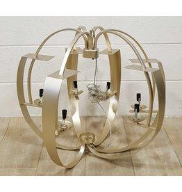 East York Six light brushed bronze chandelier