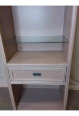 North York Beige book shelf with glass shelves