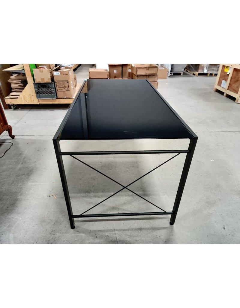 Markham West Black Glass Table