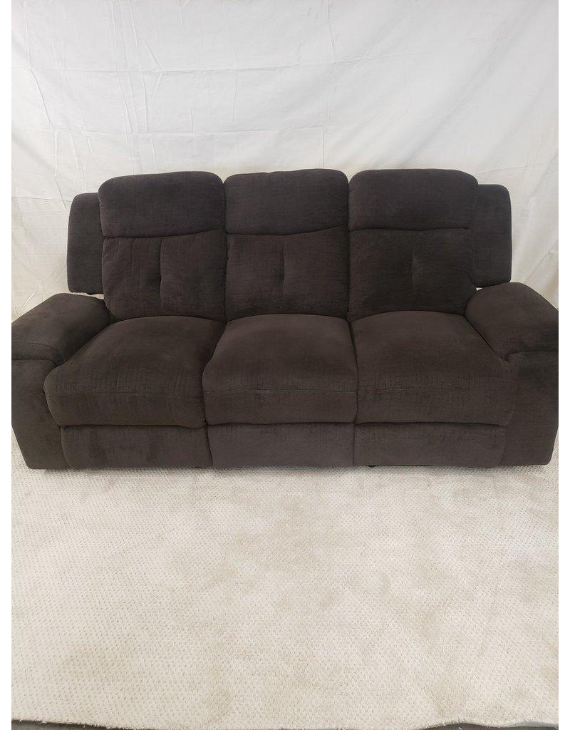 East York Brown 3-Seat Overstuffed Sofa