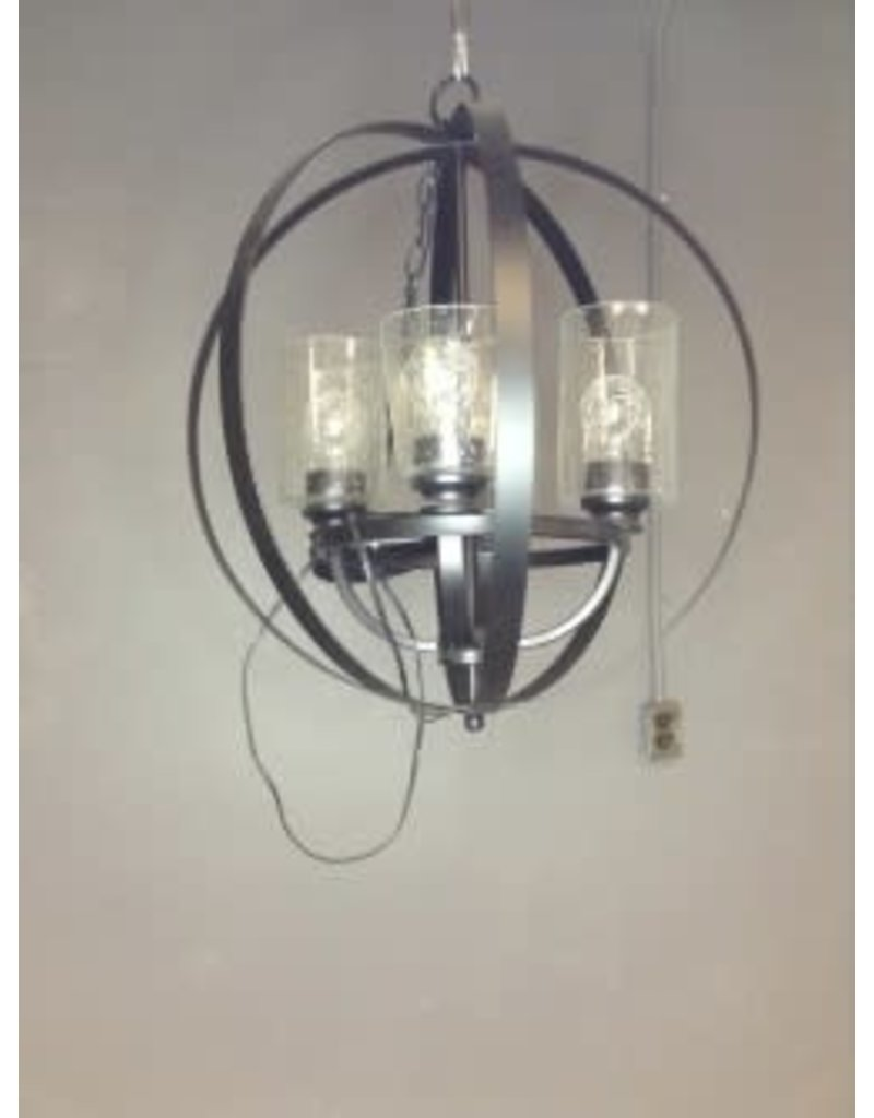 Studio District 4 Light Black Rings Chandelier