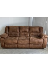 Markham West Brown Micro Suede Recliner Couch