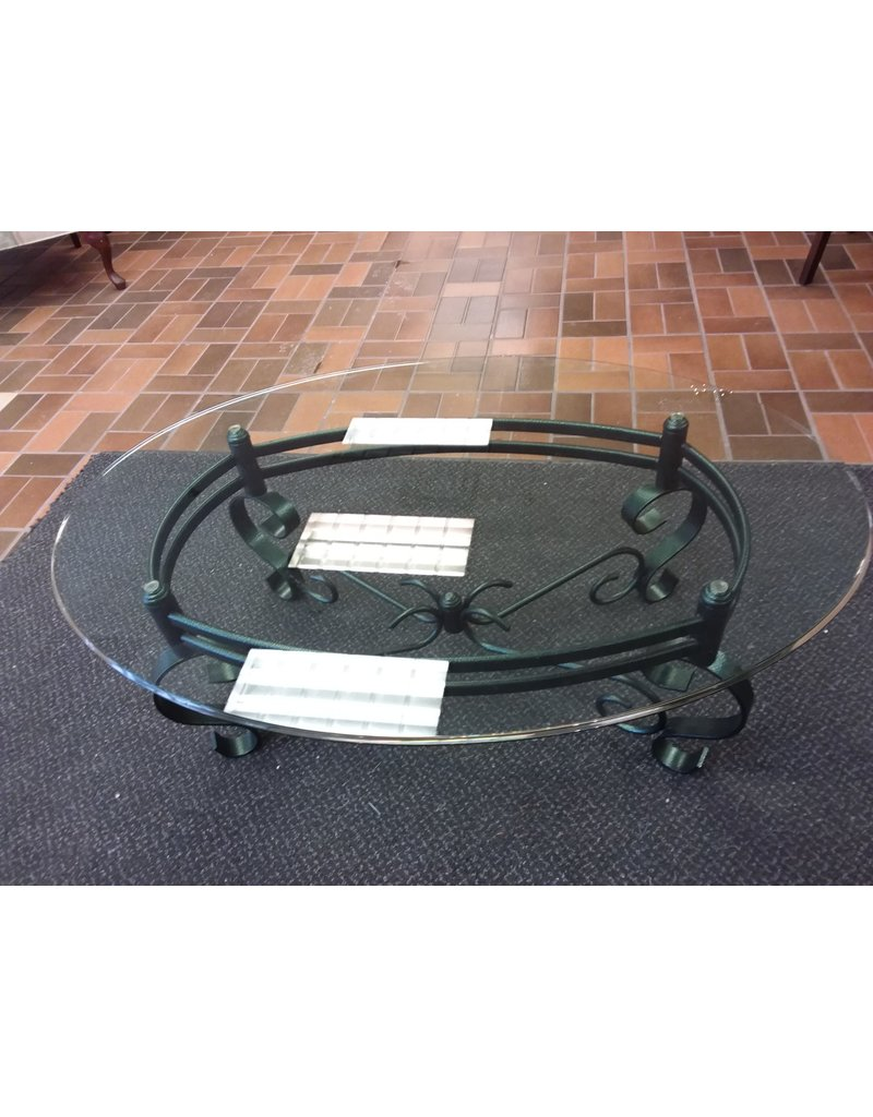 Vaughan Glass Oval Coffee Table