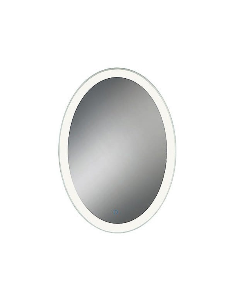 Studio District Eurofase Oval LED Mirror with Edge-Lit, Dimmable Touch Sensor - 31483-012