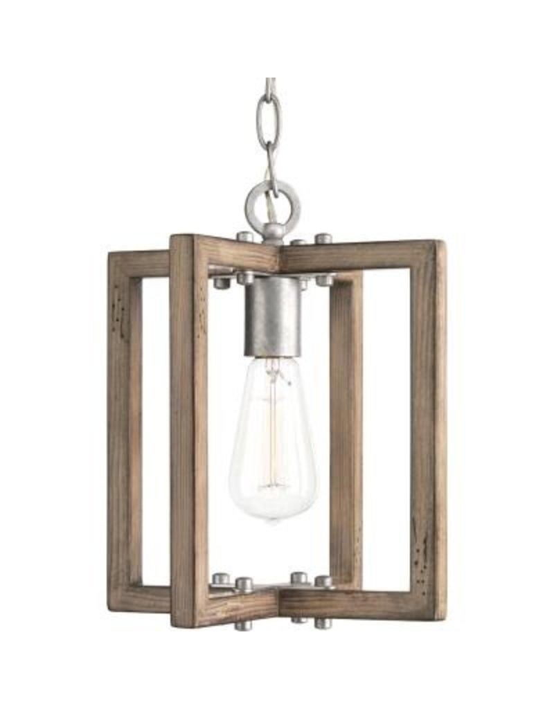Studio District 1-light Galvanized Mini-Pendant Light Fixture