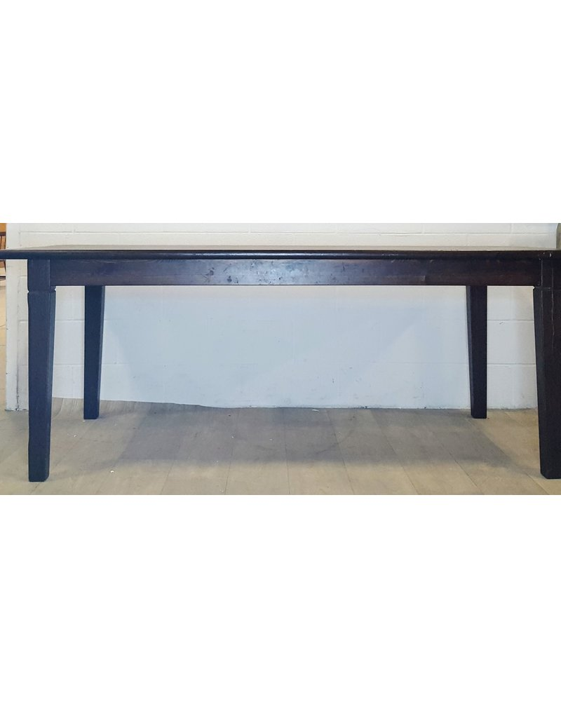 East York Dark stained pine table