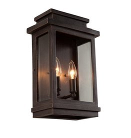 Studio District 2-Light Oil Rubbed Bronze Outdoor Wall Lantern Sconce