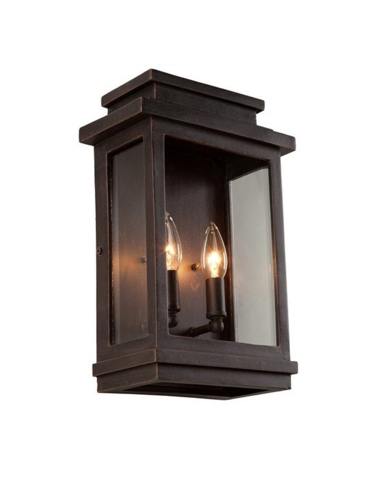 2 Light Oil Rubbed Bronze Outdoor Wall Lantern Sconce Habitat For Humanity Restore