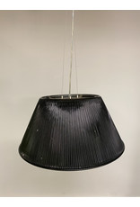 Studio District Eurofase Ribo Collection 1 Light Large Chrome & Black Pendant