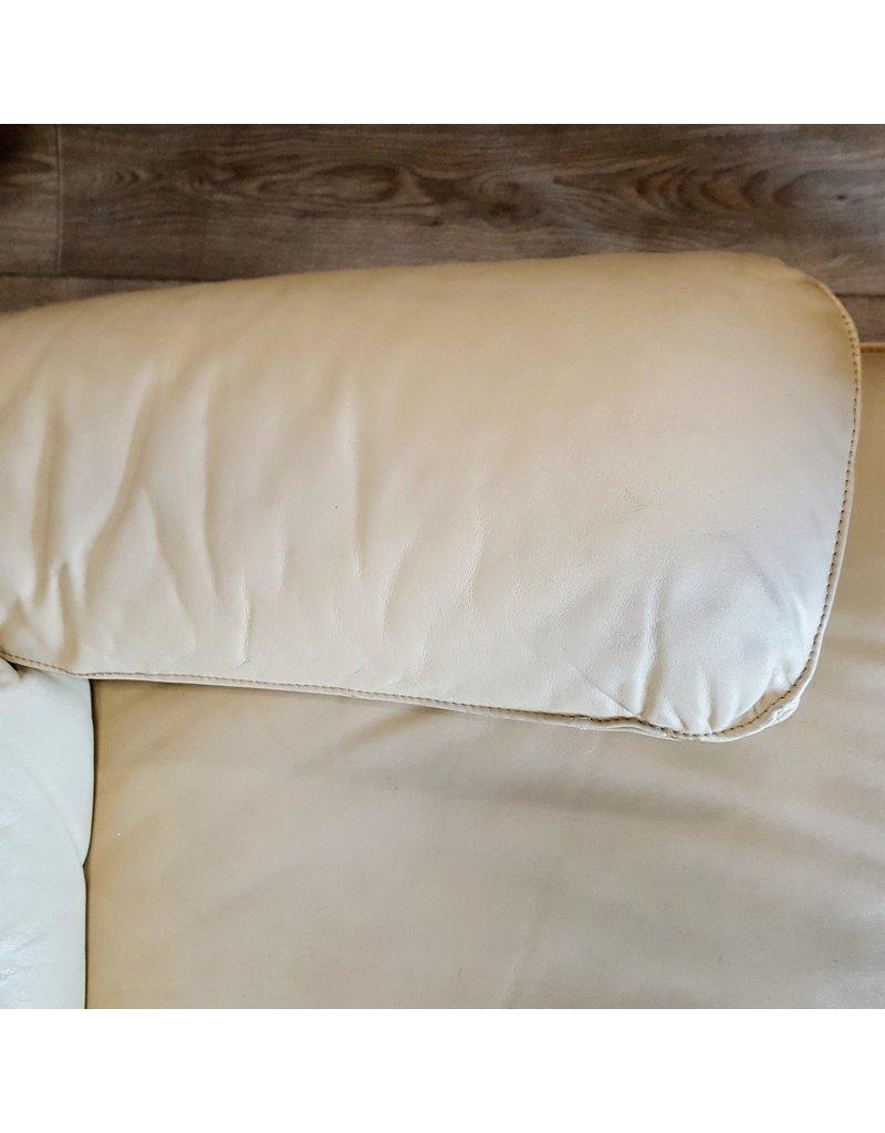 East York Beige leather sofa