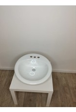 Studio District Glacier Bay Drop-In Bathroom Sink in White